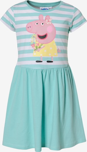 Peppa Pig Kleid in türkis / weiß, Produktansicht