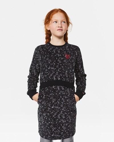 WE Fashion Sweatkleid in schwarz: Frontalansicht