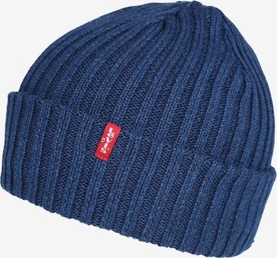 LEVI'S Muts 'INDIGO RIBBED BEANIE' in de kleur Blauw, Productweergave