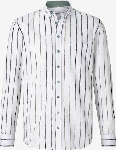 Shirtmaster Hemd ' Thepainter ' in grün / weiß, Produktansicht