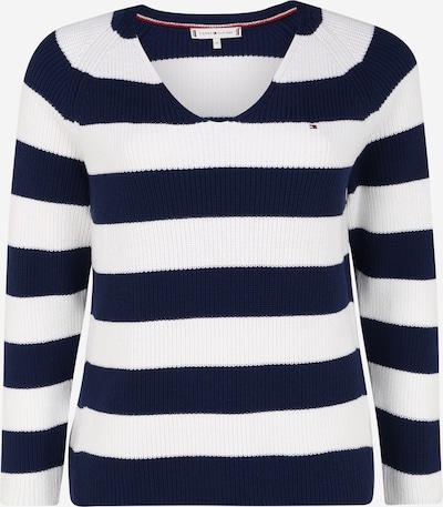 Tommy Hilfiger Curve Pullover 'HAYANA' in blau / weiß, Produktansicht