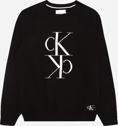 Calvin Klein Jeans Pullover  'MIRROR' in schwarz / weiß, Produktansicht