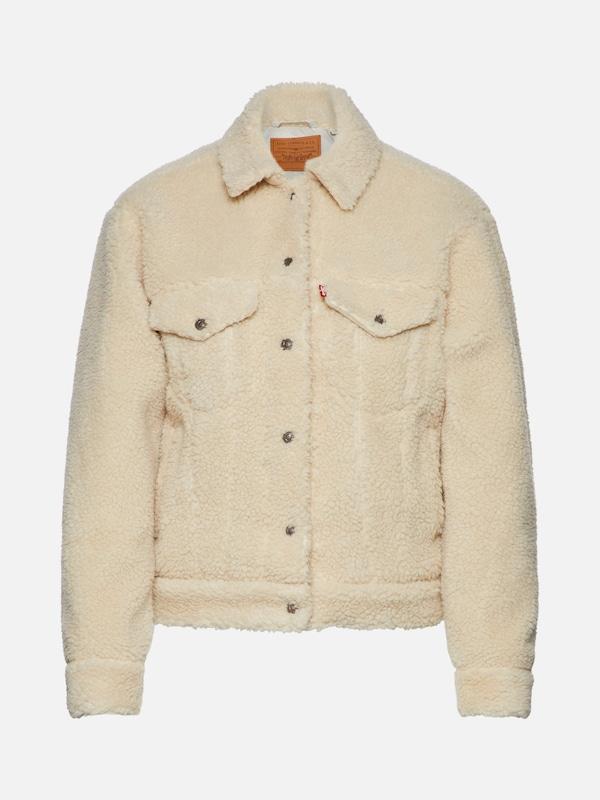reputable site a7ac9 2fc4e LEVI'S Jacke 'SHERPA TRUCKER' in beige   ABOUT YOU