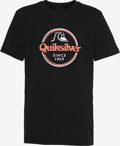 QUIKSILVER T-Shirt in lachs / schwarz / weiß, Produktansicht
