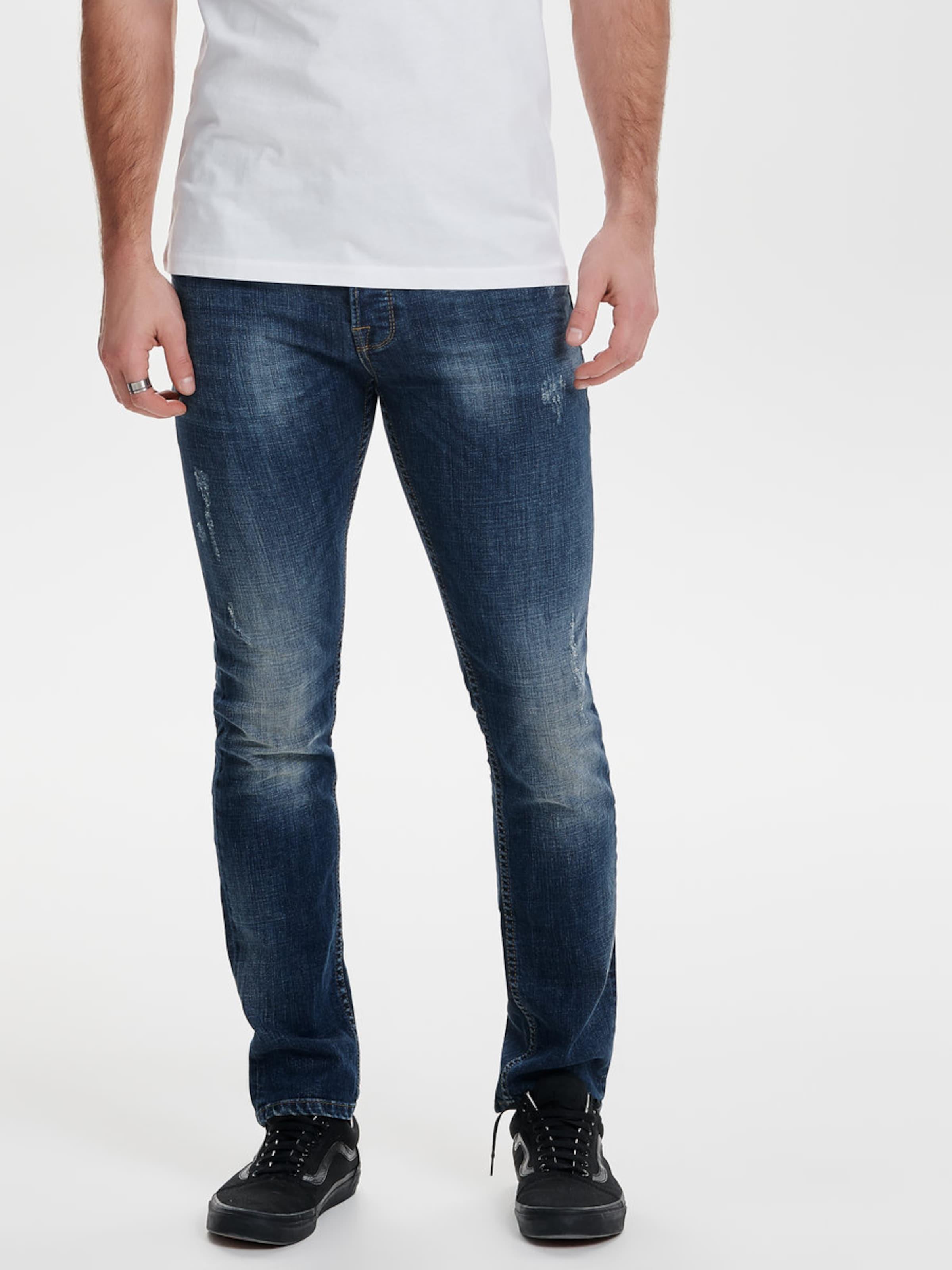 Only & Sons Loom blue damage Slim Fit Jeans Große Auswahl An Günstigen Online 2018 Unisex Günstig Online Beliebt VaMQ6EnNhD