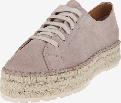 SHABBIES AMSTERDAM Espadrille-Sneaker 'LACE-UP SUEDE' in helllila: Frontalansicht