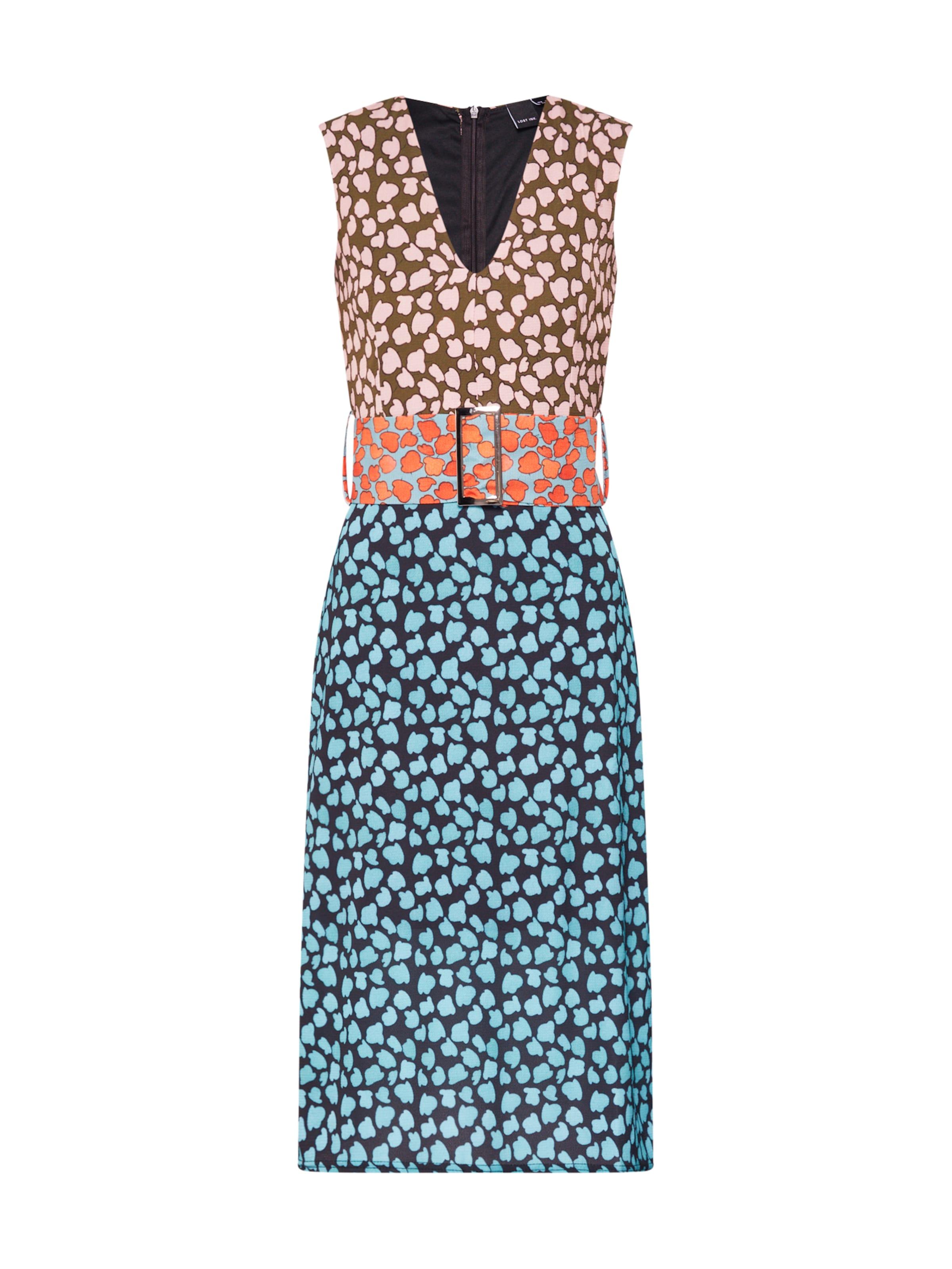 'column Lost Ink In Robe Dress Print' En Mix BleuOrange 4Aj3Rqc5LS