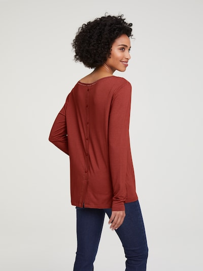 Marškinėliai iš heine , spalva - karmino raudona: Vaizdas iš galinės pusės