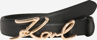 Karl Lagerfeld Ceinture en or rose / noir, Vue avec produit