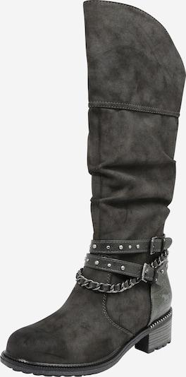 Auliniai batai su kulniuku iš MUSTANG , spalva - tamsiai pilka, Prekių apžvalga