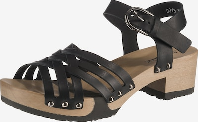 SOFTCLOX Plateau-Sandaletten 'Pamina' in schwarz, Produktansicht