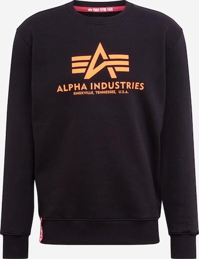 ALPHA INDUSTRIES Mikina 'Basic Sweater Neon Print' - neónovo oranžová / čierna, Produkt