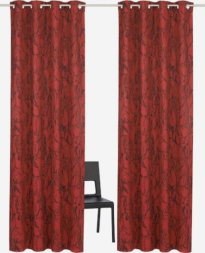 MY HOME Vorhang in rot / schwarz, Produktansicht