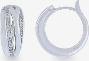 VILMAS Ohrringe mit Zirkonia in Silber