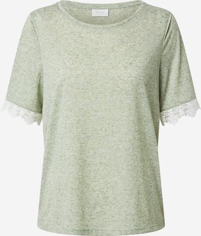 VILA T-shirt 'HALDIS' en vert pastel / blanc: Vue de face