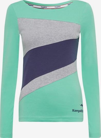 KangaROOS Shirt in blau / türkis / grau, Produktansicht