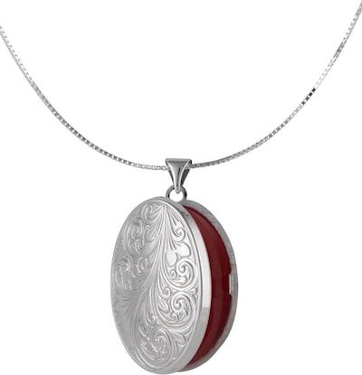 FIRETTI Halskette »Medaillon« in Venezianerkettengliederung in rot / silber, Produktansicht