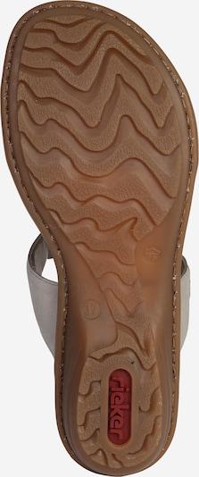 RIEKER Sandalette 'Strass' in grau: Ansicht von unten