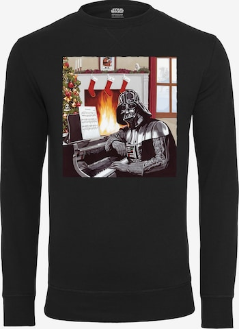 melns Mister Tee Sportisks džemperis 'Darth Vader Piano'
