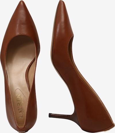 Lauren Ralph Lauren Escarpins 'LANETTE' en brun foncé: Vue de profil