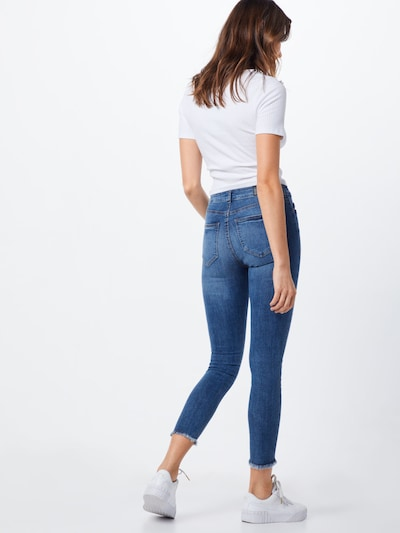 Noisy may Jeans 'nmlucy NW skinny ankle DES JEANS' in blue denim: Rückansicht