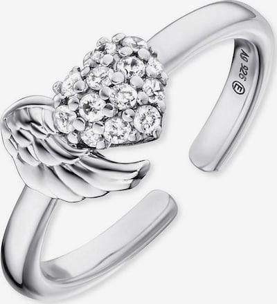 Engelsrufer Ring in silber / transparent, Produktansicht