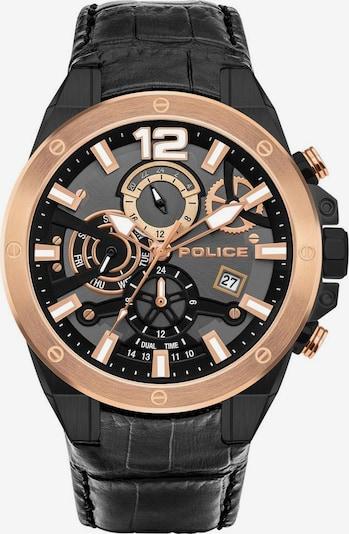 POLICE Quarzuhr 'Saiho PL15711JSBR.61' in gold / schwarz, Produktansicht