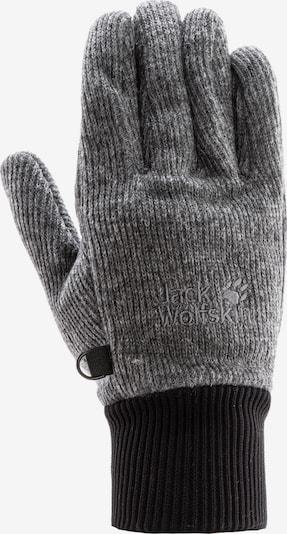 JACK WOLFSKIN Fingerhandschuhe 'STORMLOCK' in dunkelgrau / schwarz, Produktansicht