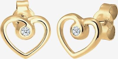 Diamore Ohrringe 'Herz' in gold, Produktansicht