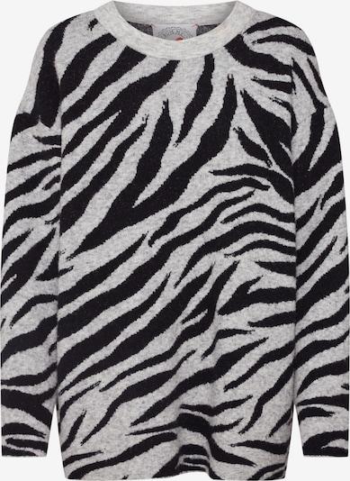 Pulover 'Zebra' Frogbox pe gri / negru, Vizualizare produs