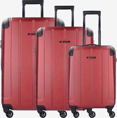 Franky Kofferset 'Munich' in rot / schwarz, Produktansicht