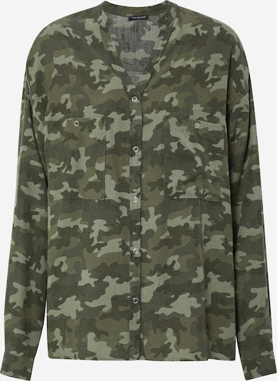 True Religion Bluse 'BLOUSE MILITARY CAMO OLIVE' in oliv: Frontalansicht