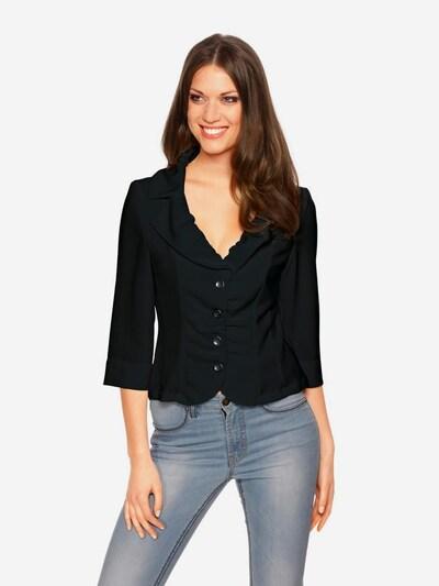 heine Blazer en negro, Vista del modelo