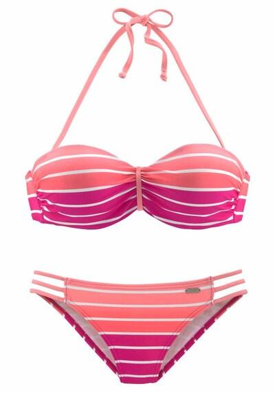 VENICE BEACH Bügel-Bandeau-Bikini in pink, Produktansicht