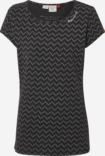 Ragwear T-Shirt 'MINT ZIG ZAG' in schwarz / weiß, Produktansicht
