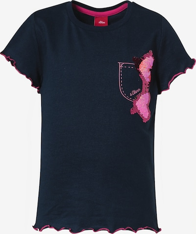 s.Oliver Junior T-Shirt in blau / pink, Produktansicht