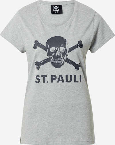 FC St. Pauli Shirt 'Totenkopf' in anthracite / grey mottled, Item view