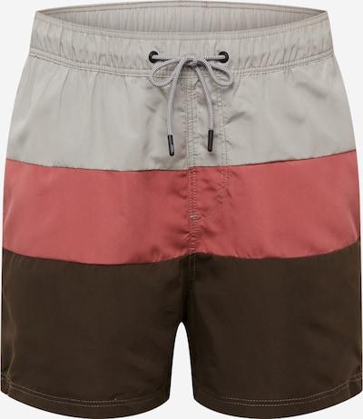 JACK & JONES Plavecké šortky 'JJIARUBA' - olivová / ružová, Produkt