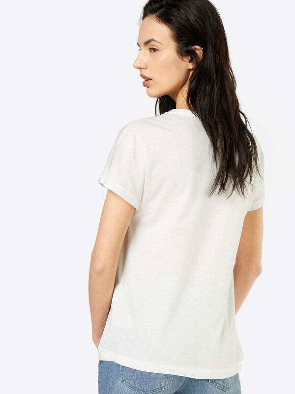 ONLY Shirt mit Print und Ziersteinbesatz