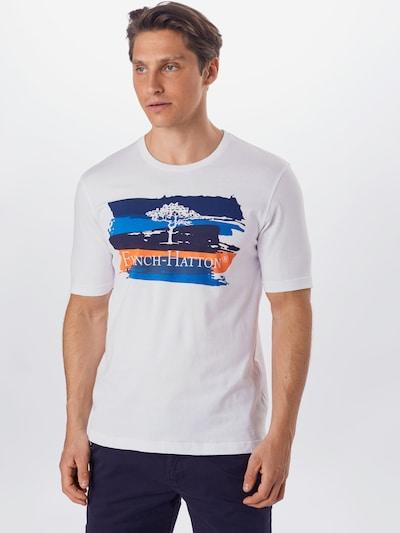 FYNCH-HATTON T-Shirt en bleu / blanc: Vue de face