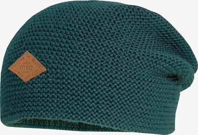 MAXIMO Mütze 'Beanie' in ocker / smaragd, Produktansicht