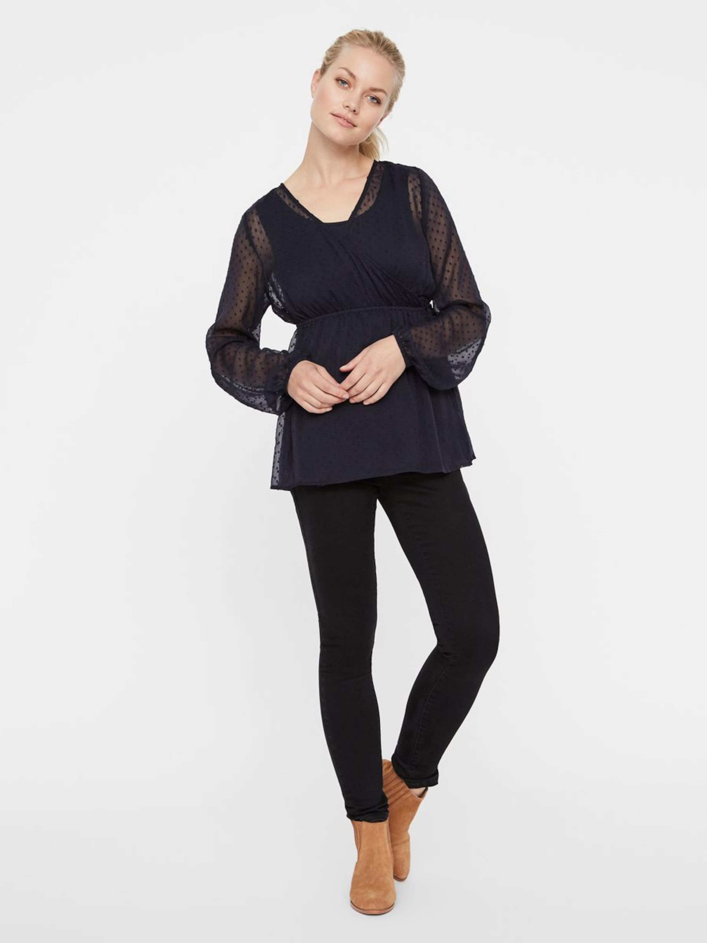 Mamalicious Navy Bluse In Navy In Navy Bluse Mamalicious Bluse Mamalicious Mamalicious In 2D9IYEHW