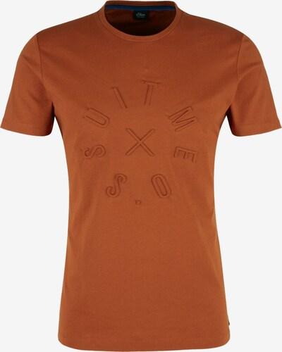 s.Oliver BLACK LABEL Shirt in dunkelorange, Produktansicht