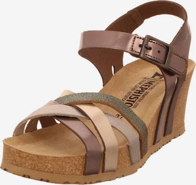 MEPHISTO Sandale in beige / braun / dunkelgrau, Produktansicht