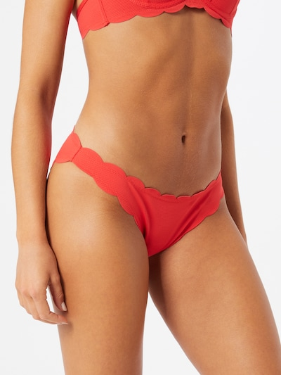 Hunkemöller Bikinové nohavičky 'AB EXCL Scallop' - červená, Model/-ka