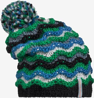 STÖHR Mütze 'HITE' in blau / grün / schwarz, Produktansicht