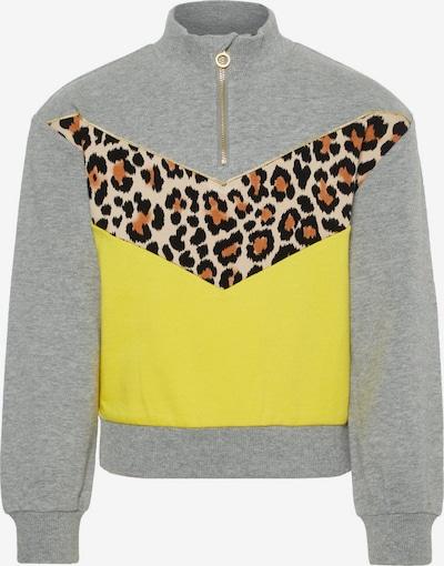 NAME IT Sweatshirt in de kleur Bruin / Geel / Grijs: Vooraanzicht
