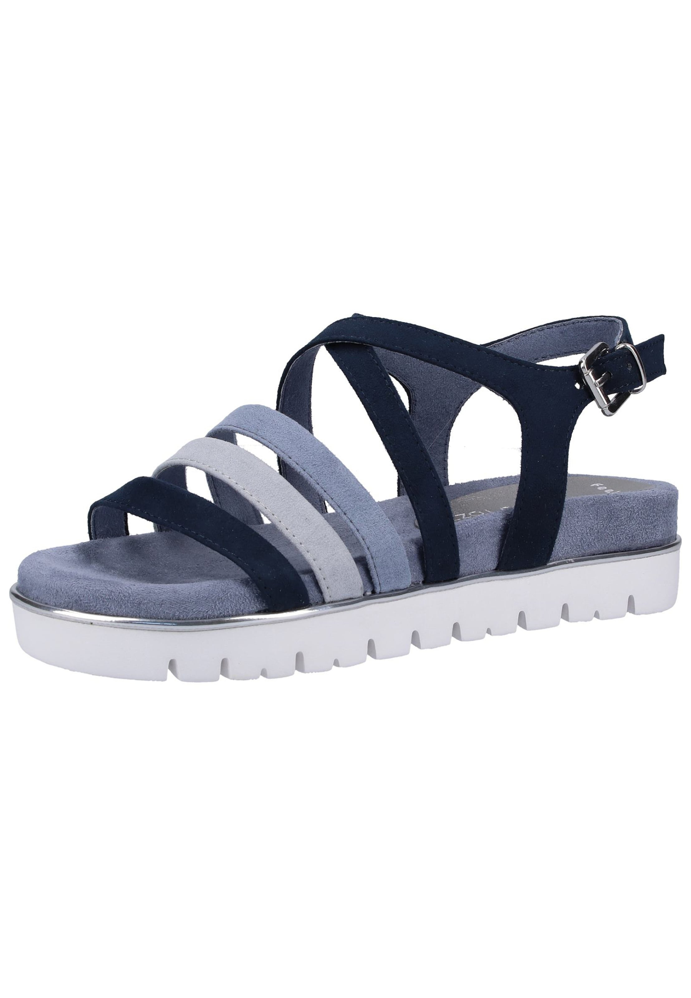 MARCO TOZZI Sandalen in blau   navy   rauchblau