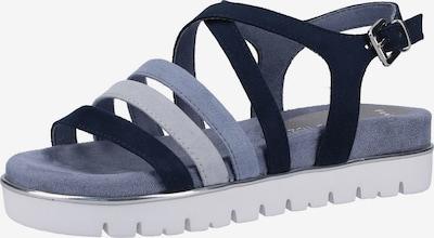 MARCO TOZZI Sandalen in blau / navy / rauchblau, Produktansicht