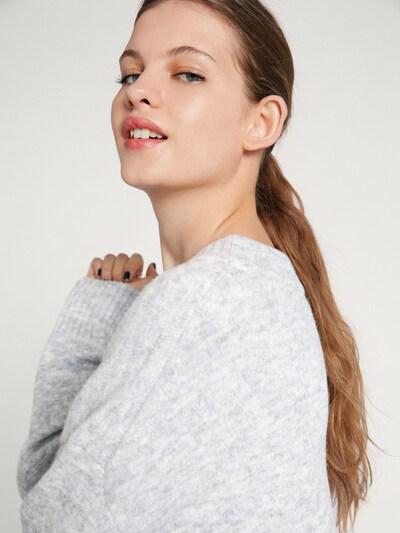 EDITED Strickpullover 'Luca' in graumeliert, Modelansicht